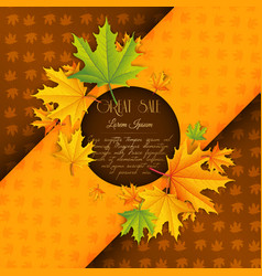 abstract autumn advertising template vector image