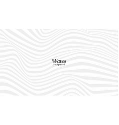 Abstract bright grey and white waves background vector