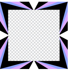 abstract geometric pattern square picture frame vector image