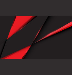 abstract red triangle on dark grey metallic vector image