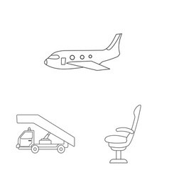 Airport and airplane sign vector