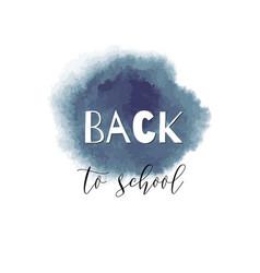 Back to school ink watercolor gray splash vector