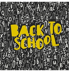 Back to school poster design with seamless letters vector