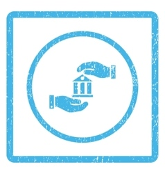Bank Service Icon Rubber Stamp vector