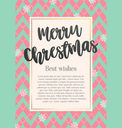 beautiful greeting card merry christmas vector image