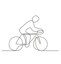 bicycle one line drawing vector image