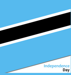 Botswana independence day vector