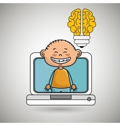 Boy infant pc idea vector