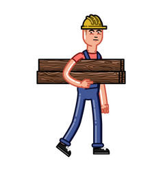 builder bears timber vector image