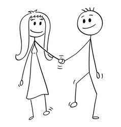 Cartoon of heterosexual couple of man and woman vector