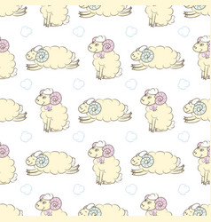 cartoon sheep seamless wallpaper vector image