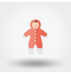 Child in winter Rompers Icon vector