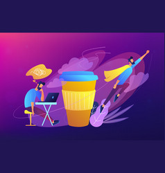 coffee break concept vector image