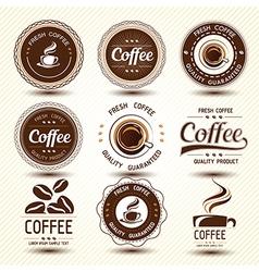 coffee label4 vector image