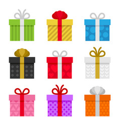 Colorful gift boxes set vector
