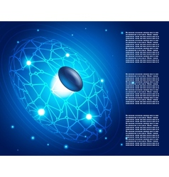 Connections Space Network Abstract Background vector image