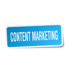Content marketing square sticker on white vector