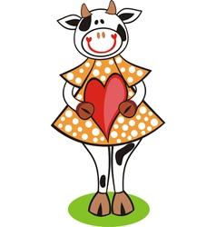 Cow heart vector image