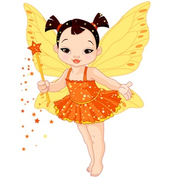 Cute asian baby fairy vector
