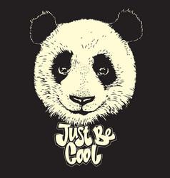 cute panda hand drawn bear vector image