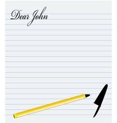Dear John vector