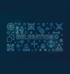 delegation blue horizontal vector image