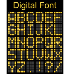 Dot font on digital board vector