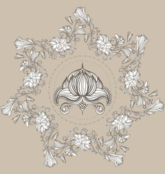 Drawing of lilies and lotus vector image