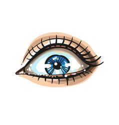 Eye on white background logo vector