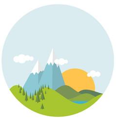 Flat designspring landscape vector