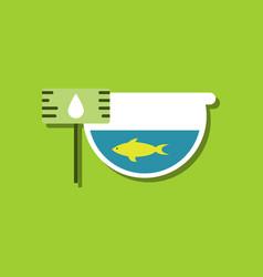 Flat icon design collection fish in an aquarium vector