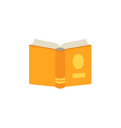 flat opened book icon vector image