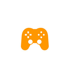 Gamepad icon on white vector
