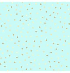 Golden glitter seamless pattern mint background vector image