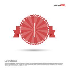 golf bat icon - red ribbon banner vector image