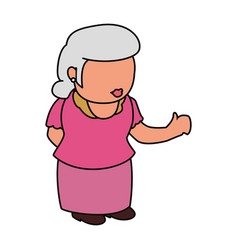 Grandmother elder person faceless vector