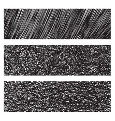 Grunge monochrome textures patterns set vector