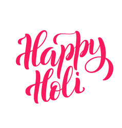 happy holi template for poster with handdrawn vector image