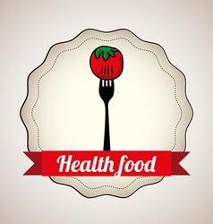 health food design vector image