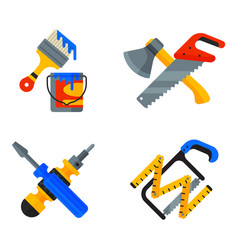Home repair tools icons working construction vector