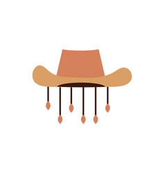 Hunter hat accessory australia icon on white vector