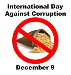 International anti-corruption day icon logo vector