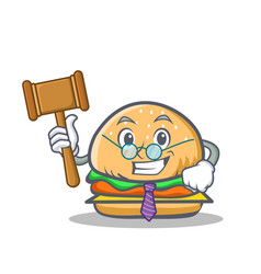Judge burger character fast food vector