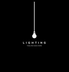 ligthing-lamp-negative-space-logo vector image