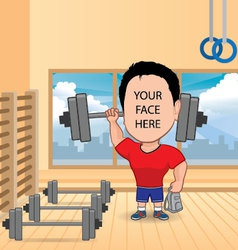 man fitness vector image