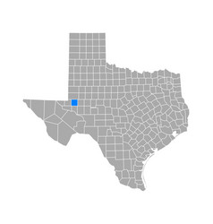 Map ector in texas vector