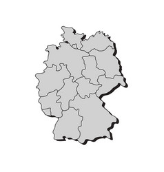 Map germany with regions vector
