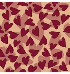 Marsala hearts pattern vector