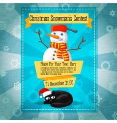Merry christmas cute retro contest invitation vector