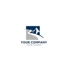 Mountain river logo design vector